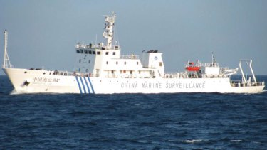 A Chinese patrol ship in the South China Sea.
