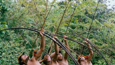 The Awa people rely on the Amazon for their way of life.