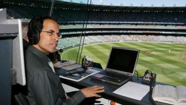 ABC commentator Harsha Bhogle at the cricket.