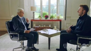Ian Thorpe being interviewed by Michael Parkinson.