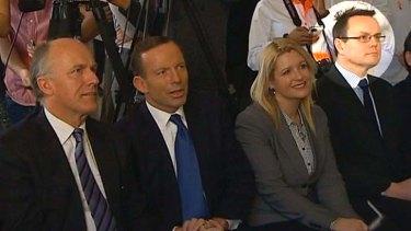 Tony Abbott and Alastair Furnival at the Cadbury Factory.