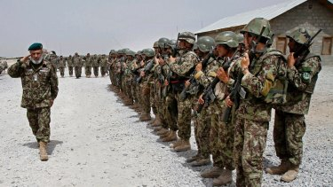 The Afghan National Army in the Sangin district of Kandahar province, Afghanistan.