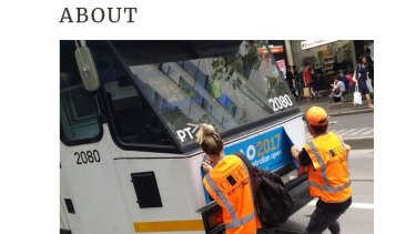 Tram Clean protesters say they are reclaiming power in the public space.