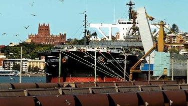 The Sage Sagittarius at dock in Newcastle.