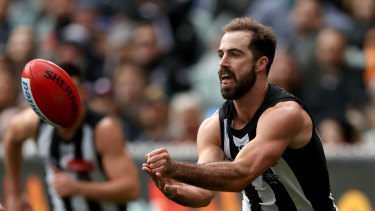 Steele Sidebottom was a strong performer for the Pies in their loss.