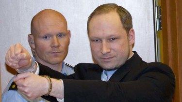 Norwegian right-wing extremist Anders Behring Breivik.