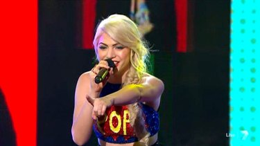 Joelle sings P!nk's True Love on <i>The X Factor</i>.