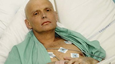 Fight for answers … Alexander Litvinenko, who died after ingesting polonium in London.