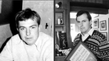 Blasts from the past ... Tony Abbott photographed in 1977 and 1985. Scroll down to hear an interview from his student days.