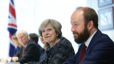 British Prime Minister Theresa May during their bilateral meeting on the sidelines of the G-20 economic summit in China.