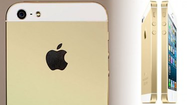 Gold phone, Gold finger? Mock-ups of Apple's rumoured Gold iPhone.