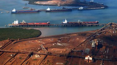 Calm before the storm: Port Hedland's export facilities.