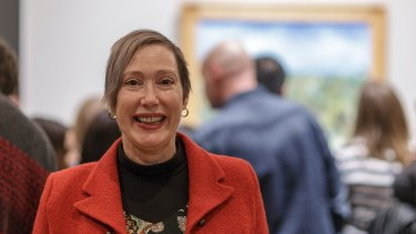 Helen Brown-May at the last viewing of Van Gogh and the Seasons.