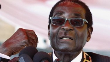 Zimbabwe's President Robert Mugabe in Harare, in August 2013.