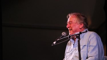 Woodford Folk Festival director and founder Bill Hauritz prevents the director's report.