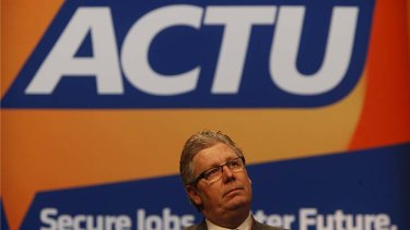 Looking beyond the election: Dave Oliver, secretary of the ACTU.