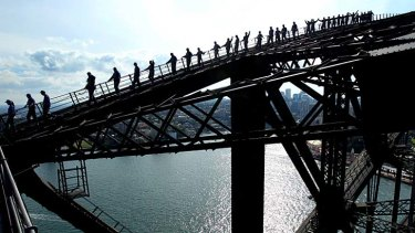 Perfectly exclusive: The Sydney Harbour Bridge has been booked out for four days by The Perfect China company.