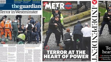 The Guardian, Metro and Independent front pages.