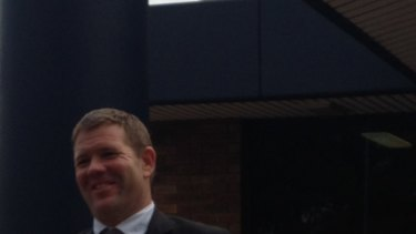 All smile: Ben Cousins' lawyer Michael Tudori leaves Armadale Magistrates Court