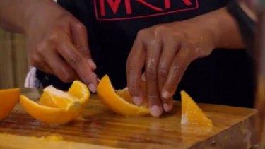 Orange you glad Eva and Debra prepared two types of ice cream?