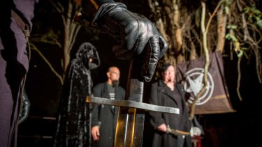 In the dark of night: Performing a ritual as part of Walpurgisnacht.