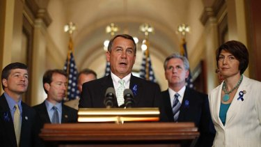 Minutes to midnight ... Republican Speaker John Boehner's debt plan faces opposition close to home.