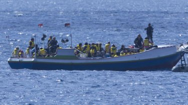 Another boat carrying asylum seekers was intercepted off Christmas Island yesterday.