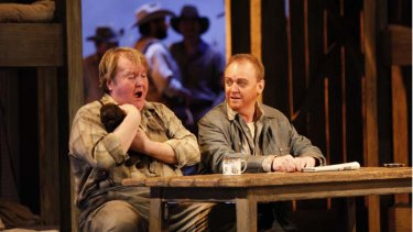 Anthony Dean Griffey and Barry Ryan in Of Mice and Men
