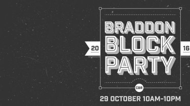 The Braddon Block Party will see some streets shutdown for the event.