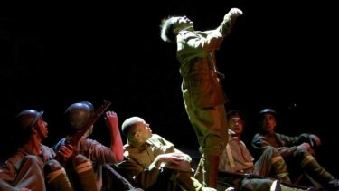 Sydney Festival performance of <i>Black Diggers</i> to mark the eve of the Centenary of the First World War.