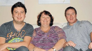 Mum's the word ... Lee Willis is happy to help support her adult sons, Sam, a 22-year-old student, and teacher Adam, 25.