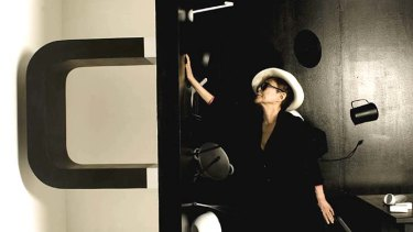 Magnetic attraction: Yoko Ono with her installation <i>Balance Piece</i>.