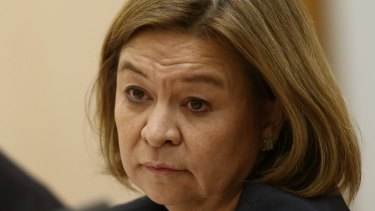 ABC Managing Director Michelle Guthrie appeared before Senate estimates at Parliament House in Canberra on Thursday 5 May 2016. Photo: Andrew Meares
