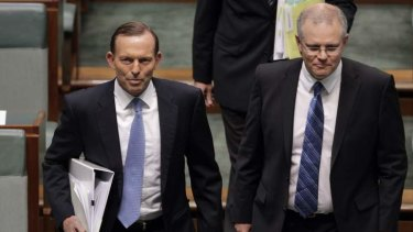 Prime Minister Tony Abbott and Immigration Minister Scott Morrison.