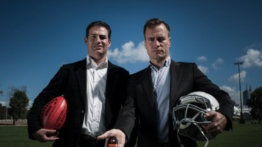 Catapult Sports exec chairman Adir Shiffman (left) and founder Shaun Holthouse.