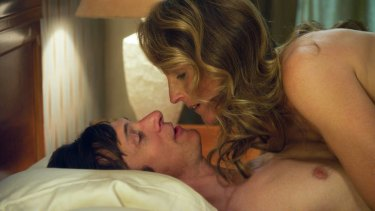 Helen Hunt and John Hawkes in <i>The Sessions</i>. The film dives into the relatively unexplored world of the sexual needs of the disabled.