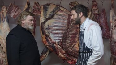 Brendan Gleeson and Chris O'Dowd in <i>Calvary.</i>
