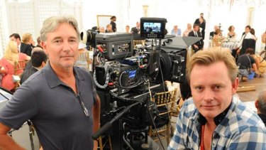 Booming industry ... cinematographer Steve Windon and director Stephan Elliott on the Sydney set of the new film <i>A Few Best Men</i>.