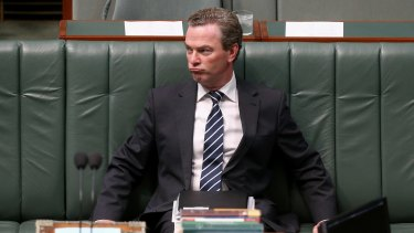 Leader of the House Christopher Pyne in question time on Wednesday.