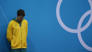 A difficult Games ... James Magnussen after winning a silver medal in the 100m freestyle.