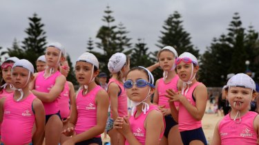 Nippers from Coogee SLSC go through their Sunday morning drills and competitions.