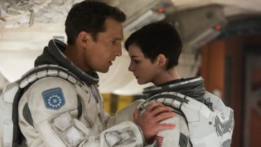 Space travellers: Matthew McConaughey and Anne Hathaway play astronauts in <i>Interstellar</i>.