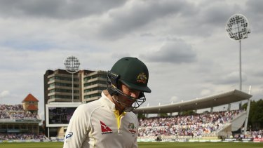 Down and out: Clarke is dismissed during the fourth Test.