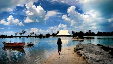 Rising sea levels have already forced the relocation of some villagers in the Kiribati Islands.