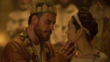 Michael Fassbender and Marion Cotillard in <i>Macbeth</i>.