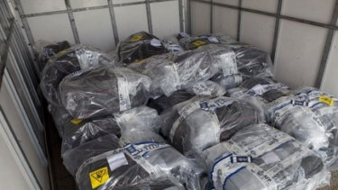 Bags of cocaine from Australia's biggest haul.