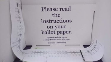The practice of voting on paper ballots would be replaced by electronic methods if Malcolm Turnbull had his way.