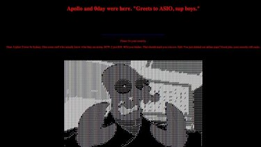 The defaced UTS page that contained the usernames and passwords of staff accounts.