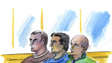 Ecstasy charges ... Pasquale Barbaro, Pasquale Sergi and Francesco Madafferi, who is at the centre of  a visa donations inquiry.