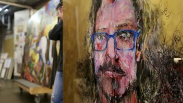 First paintings arrive for the 2014 Archibald prize at the Art Gallery of NSW.